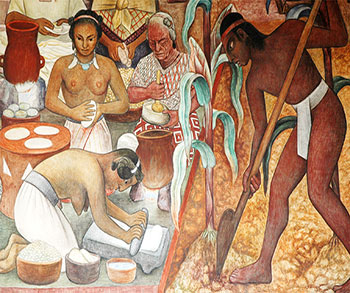 Detalle del mural Cultura Huasteca, de Diego Rivera, tomada de http://enlivenedlearning.com/wp-content/uploads/2012/12/Mural- Diego-Rivera-21-photo-by-Mirairi-Erdoza-.jpg