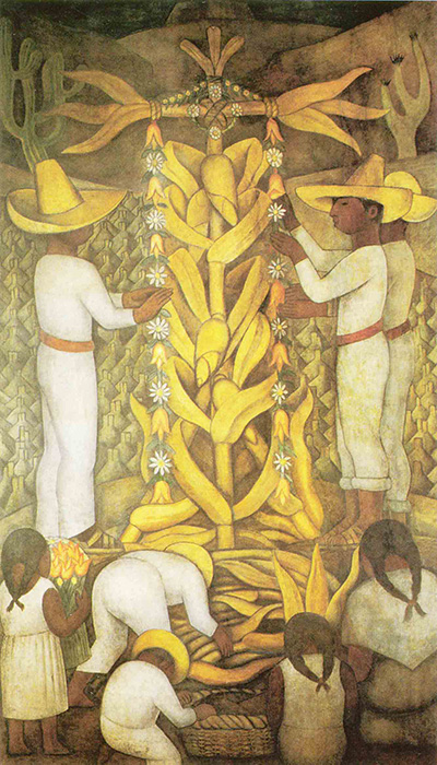 Mural de Diego Rivera La fiesta del maíz, imagen tomada de http://1.bp.blogspot.com/_hNDPbUk-VQw/S- rt4sEOT_I/AAAAAAAAAGY/hfdIK043NCQ/s1600/maiz.jpg