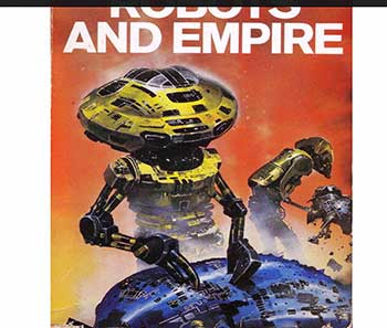 · Portada del libro Robots and Empire, de Isaac Asimov