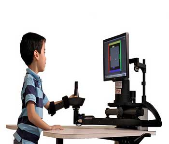 El robot MIT-Manus, imagen tomada de https://www.lifetecinc.com/images/products/Company_177/Image_8637.jpg
