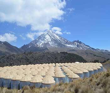 HAWC y el Pico de Orizaba el 20 de marzo