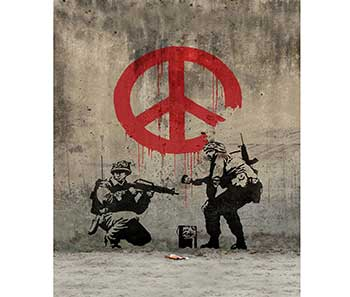 Soldiers Painting Peace, obra de Banksy