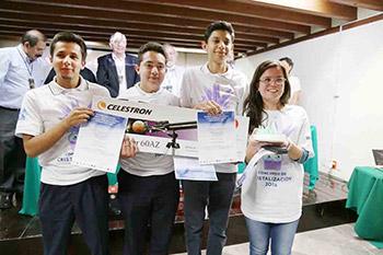 Primer lugar. Roberto Romero de la Torre, Alejandro Peral Rivera y Andrés Ramos León. Asesor: profesora Rosalba Basurto Reyes, del Instituto Francisco Esqueda (preparatoria).