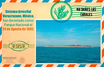 Parque Nacional Sistema Arrecifal Veracruzano - Postal, por SEMARNAT, en www.flickr.com