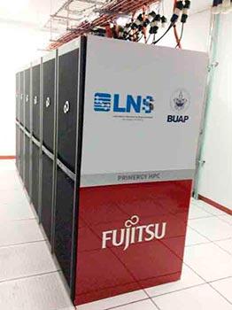 Nodos de procesamiento en el Laboratorio Nacional de Supercómputo del Sureste de México (BUAP)