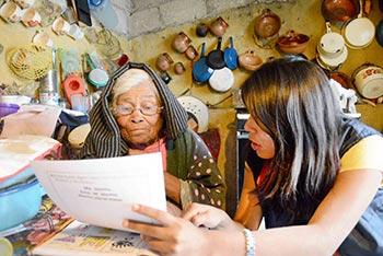 Karen Martínez, alfabetización 2015.