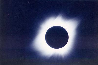magen del eclipse total de Sol de 1991 obtenida desde el INAOE
