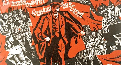 Cartel celebrando la Revolución Rusa de 1917; tomado de https://mundo.sputniknews.com/rusia/201707031070451302-rusia-radicalismo-historia-golpe/
