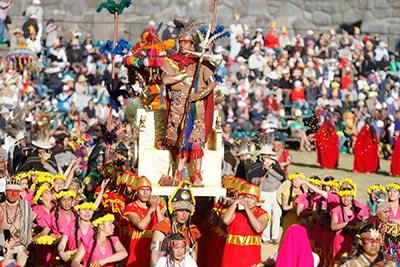 Fiesta del Inti Raymi en el Cuzco celebrando el solsticio de invierno