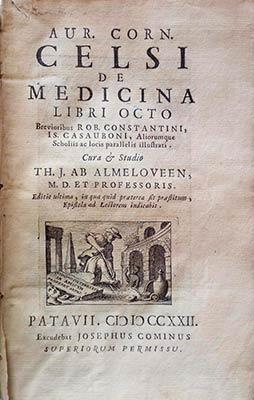 Imagen tomada de https://www.iberlibro.com/Aur-Corn-Celsi- Medicina-Libri-Octo/22696494438/bd