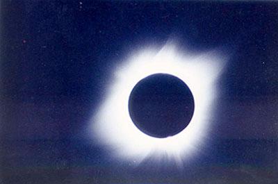 · Eclipse de Sol de 1991. Fotografía obtenida con el Telescopio Solar del INAOE