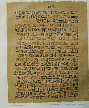 Papiro de Ebers, imagen tomada de http://purehomeandbody.com/wp-content/uploads/2011/04/ebers111.jpg