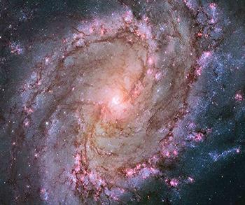 Galaxia Espiral M83. Crédito: NASA, ESA, Hubble Heritage Team (STScI/AURA), y W. P. Blair (JHU) et al. Imagen tomada de http://apod.nasa.gov/apod/image/1401/m83_hubble_1280.jpg