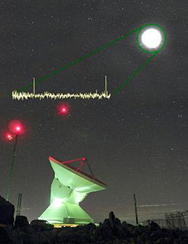 Detección del GTM de dos líneas del monóxido de carbono en la galaxia PJ160917.8 a 10,800 millones de años luz. Las líneas son el producto de la desexcitación de la molécula, del cuarto y tercer esta- do excitado rotacional al tercero y segundo. Esta galaxia tiene una tasa de formación estelar 21,000 veces mayor que la Vía Láctea, obviando el factor corrector de la amplificación gravitatoria, que es desconocido hasta el momento.
