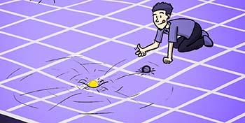 Esta imagen es parte de un video explicativo de ondas gravitacio- nales; tomada de http://www.publico.es/ciencias/claves-comprender- son-ondas-gravitacionales.html