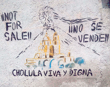 Imágenes tomadas de Facebook Cholula Viva y Digna