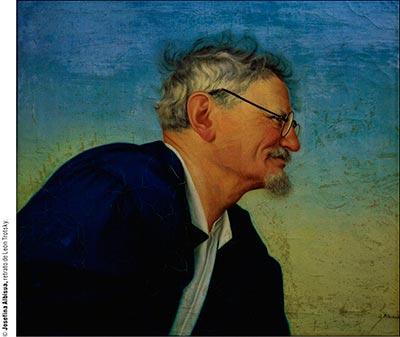 Retrato de León Trotsky, de Josefina Albisua; tomada de http://www.elementos.buap.mx/num85/htm/61.htm