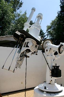 Aspecto del Telescopio Solar hoy en día.