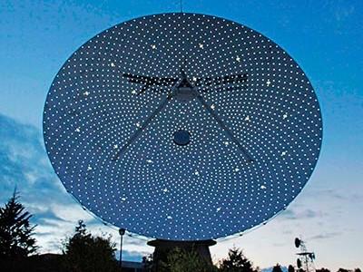 Vista frontal de Tulancingo-1 con etiquetación. Foto: M. Acevedo García, Telecomm