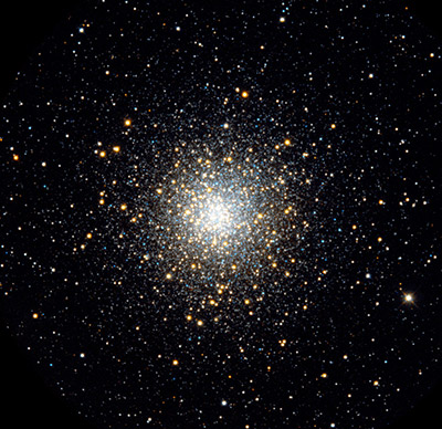 M10 (NGC 6254) es un cúmulo globular, de magnitud 6.6, que se encuentra en la constelación de Ofiuco. Crédito:Till Credner, Sven Kohle (Bonn University), Hoher List Observatory