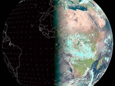 · Imagen: La Tierre durante el equinoccio de 2014. Tomado de European Organisation for the Exploitation of Meteorological Satellites (https://www.eumetsat.int/)