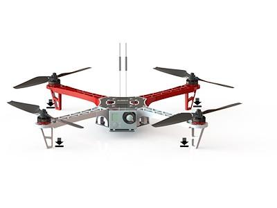 Los cuadricópteros (formados por cuatro rotores) representan una clase particular de drones