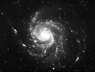 Figura 2. Imagen de M101 obtenida con la Cámara Schmidt de Tonantzintla. Archivo INAOE