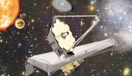 Imagen: Representación artística del Telescopio Espacial James Webb y de algunos de los objetos astronó- micos que estudiará. Crédito: ESA, NASA, S. Beckwith (STScI) y el equipo HUDF, Northrop Grumman Aerospace Systems / STScI / ATG medialab. https://www.esa.int/Space_in_Member_States/Spain/Actualizacion_sobre_el_telescopio_espa cial_James_Webb_revision_de_la_nueva_ventana_de_lanzamiento